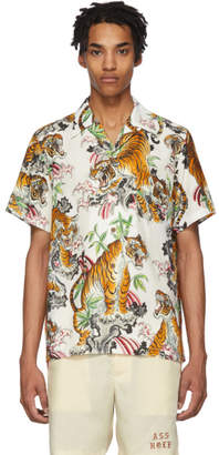 Wacko Maria White and Multicolor Tim Lehi Edition Graphic Hawaiian Shirt