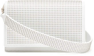 Alaia White leather studded cross-body bag