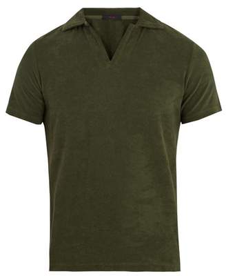 The gigi The Gigi - Terry Towelling Cotton Polo Shirt - Mens - Green