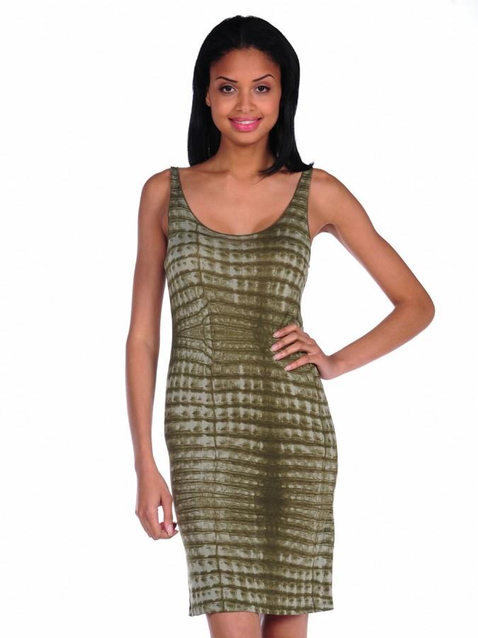 Majestic Croc Print Tank Dress