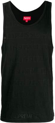 Supreme mesh stripe tank top