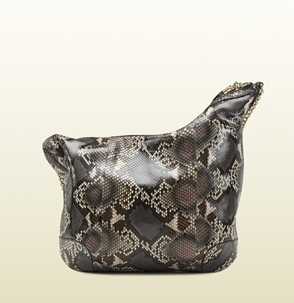Gucci Soho Python Shoulder Bag With Chain Strap