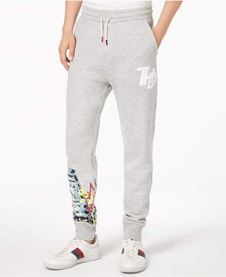 Tommy Hilfiger Men's Slim-Fit Graffiti Jogger Pants, Created for Macy's