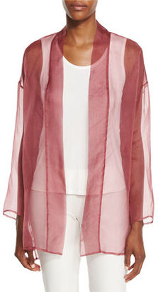 Eileen Fisher Long Washed Silk Organza Jacket $218 thestylecure.com