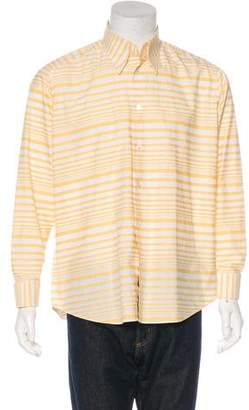 Hermes Striped French Cuff Shirt