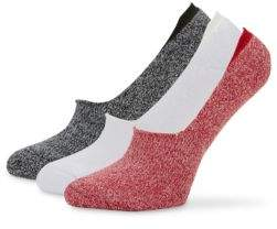 Hue Three-Pack Cushion Resort Liner Socks