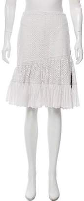 Sonia Rykiel Sonia by Eyelet Knee-Length Skirt w/ Tags
