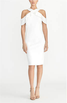 Rachel Roy Cold Shoulder Ruffle Halter Dress