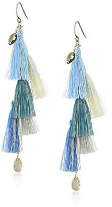 Chan Luu Blue Fringe Drop Earrings