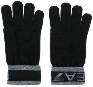 Emporio Armani Ea7 logo cuff gloves