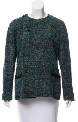 Proenza Schouler Double-Breasted Tweed Jacket
