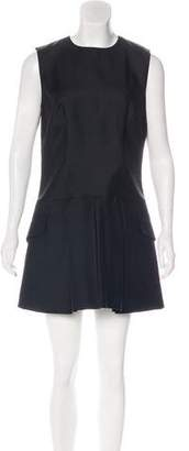 Christian Dior Wool & Silk-Blend Pleated Dress