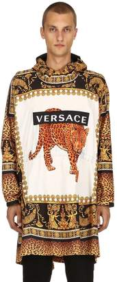 Versace Baroque Print Hooded Light Nylon Jacket