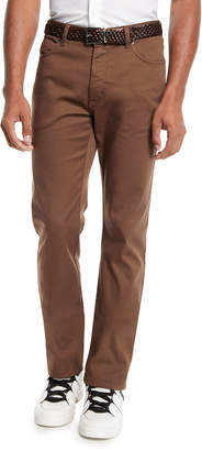 Ermenegildo Zegna Men's 5-Pocket Stretch-Canvas Pants