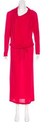 Lanvin Long Sleeve Maxi Dress