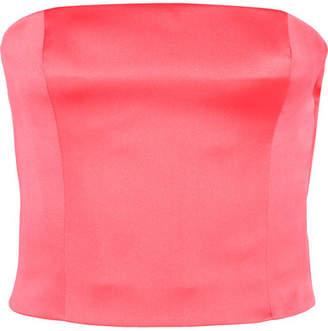 Giorgio Armani Silk-satin Bustier Top - Pink