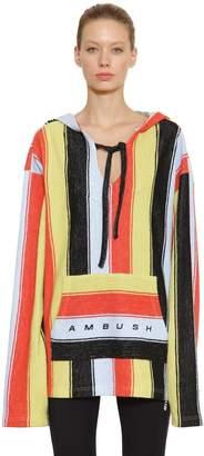 Ambush Oversized Logo Striped Cotton Sweatshirt