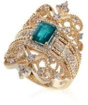 Effy Brasilica Emerald & Diamond 14K Gold Ring