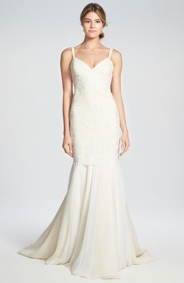 Women's Katie May 'Monaco' Lace & Chiffon Trumpet Gown $1,950 thestylecure.com