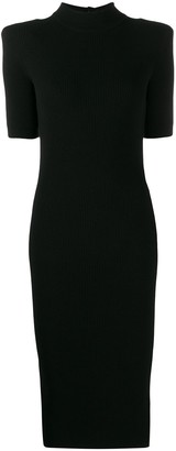 Balmain knitted embossed button dress