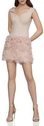 BCBGMAXAZRIA Drop-Waist Satin & Tulle Dress
