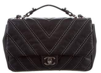 Chanel Chevron Stitch Single Flap Satchel