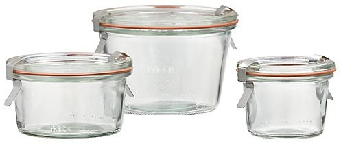 Crate & Barrel Weck Low Canning Jars