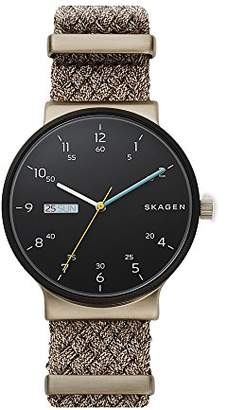 Skagen Men's Quartz Stainless Steel and Nylon Casual Watch