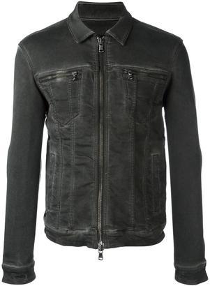 John Varvatos zip up denim jacket $228.19 thestylecure.com