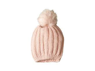 Hat Attack Soft Rib Slouchy with Faux Pom