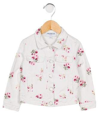 Simonetta Kids Girls' Floral Denim Jacket