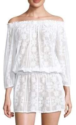 Melissa Odabash Olivia Off-The-Shoulder Blouson Dress
