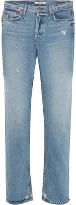 GRLFRND Helena High-rise Straight-leg Jeans - Mid denim