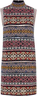 Missoni Sleeveless Mini Patchwork Stripes Short Dress