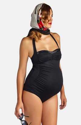 Women's Pez D'Or 'Retro' Ruched One-Piece Maternity Swimsuit $99 thestylecure.com
