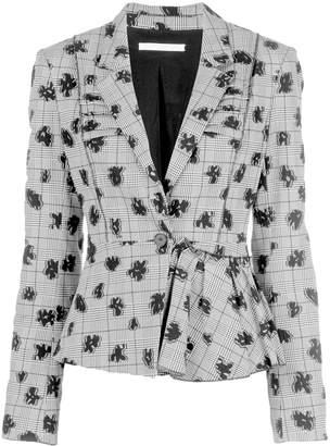 Jason Wu Collection floral print stretch blazer