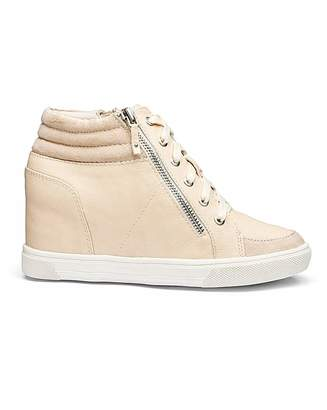 b89d824590a51 Leila Simply Be Wedge Trainer Wide Fit
