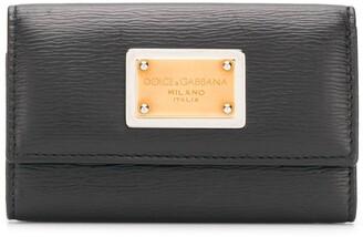 Dolce & Gabbana logo plaque key wallet