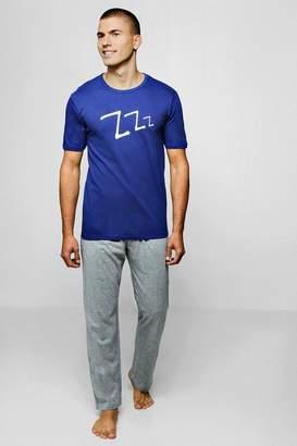 boohoo Slogan Pyjama Set