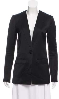Elizabeth and James Textured Button-Up Blazer