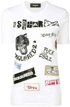 DSQUARED2 patchwork T-shirt
