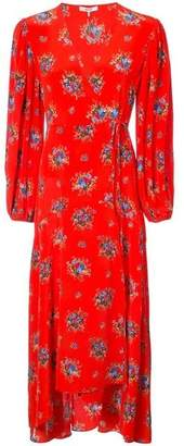 Ganni Floral Wrap Dress
