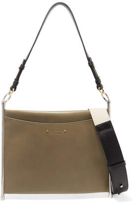 Chloé Roy Leather Shoulder Bag - Army green