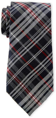 Tommy Hilfiger Red Classic Plaid Silk Tie