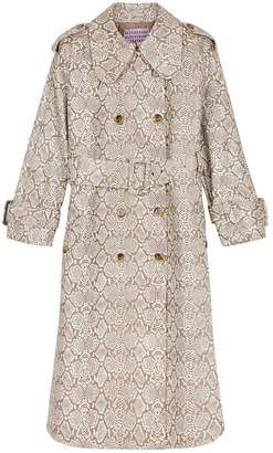 ALEXACHUNG faux snakeskin trench coat