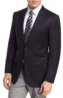 Ermenegildo Zegna Milano Micronsphere Wool Two-Button Sport Coat, Navy $2,095 thestylecure.com
