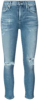 Citizens of Humanity cropped distressed skinny jeans