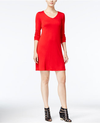 kensie Long-Sleeve T-Shirt Dress $79 thestylecure.com
