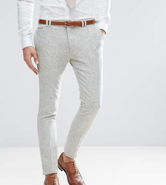 Noak Tall Super Skinny Suit Pants In Fleck