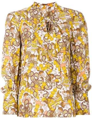 Chloé floral tie neck blouse